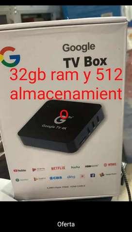 Tv box 32gb ram 512 gb almacenamiento nuevos