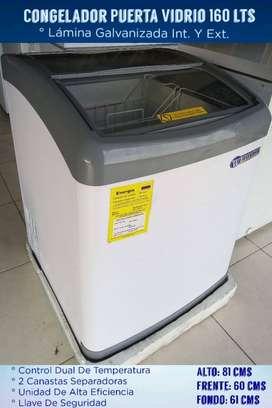 Congelador Puerta Vidrio 160Lts