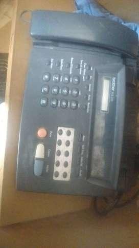 Telefono fax con impresionde copia