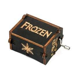 Caja Musical Frozen Regalo Let It Go Negra Fan Princesa Elsa Niños
