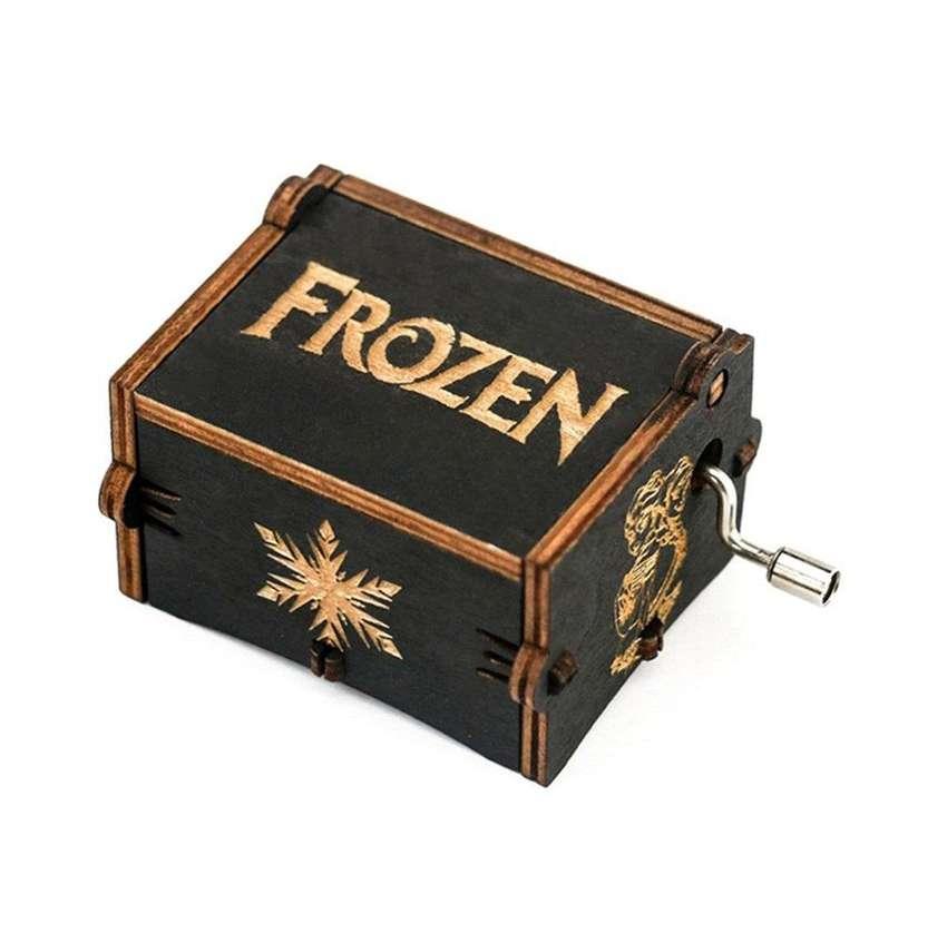 Caja Musical Frozen Regalo Let It Go Negra Fan Princesa Elsa Niños 0