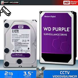 Disco Duro INTERNO Western Digital 2tb Purple CCTV Video Vigilancia