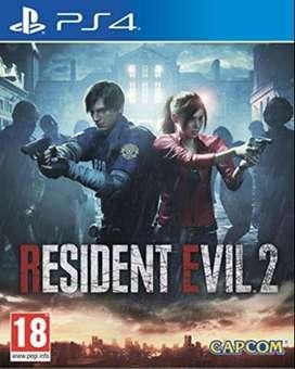 Cambio juegos ps4 resident evil 2 remasterizado y fifa20
