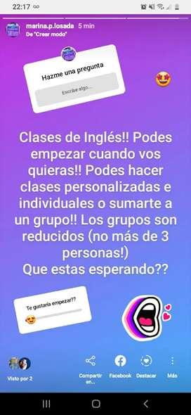 Inglés online x videollamada