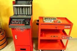 Limpiador y probador de Inyectores y Escaner Automotriz OBD2 no Launch