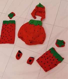 Disfraz de fresa. Niña o niño