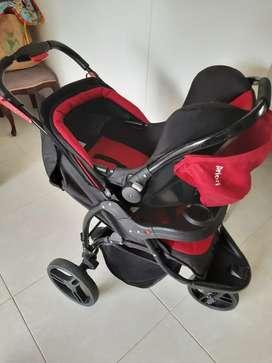 Coche con silla para vehículo para baby