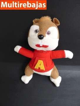Peluche De La Serie Alvin Y Las Ardillas, Alvin 24cm