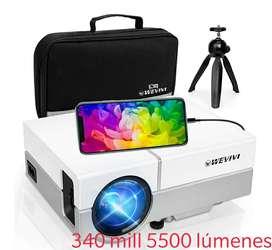 Projector 5500 lúmenes super potente hasta 220 pulgadas de pantalla