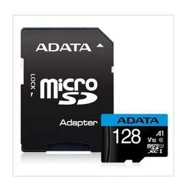 Micro sd 128gb clase 10 adata original con adaptador