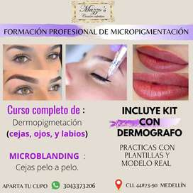 curso de micropigmentacion completa :Cejas,Ojos y labios mas kit
