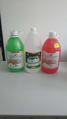 Productos de aseo jabon de manos y alcohol por mayor y al detal