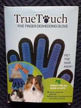 Cepillo Guante De Silicona Masajeador Para Mascotas TrueTouch