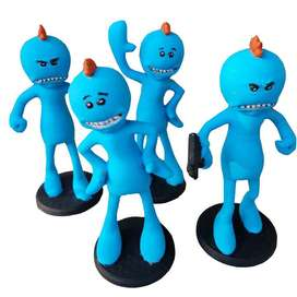 Figura Mr. Meeseeks - Rick Y Morty x 4 Und