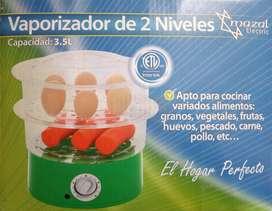 Vaporizador de alimentos de dos niveles nuevo.
