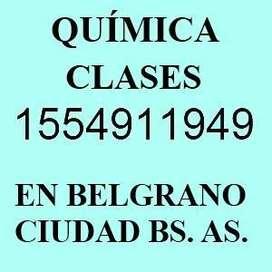 Profesor Particular de Quimica en Belgrano Nuñez Clases Apoyo
