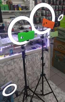 Aros de luz con trípode