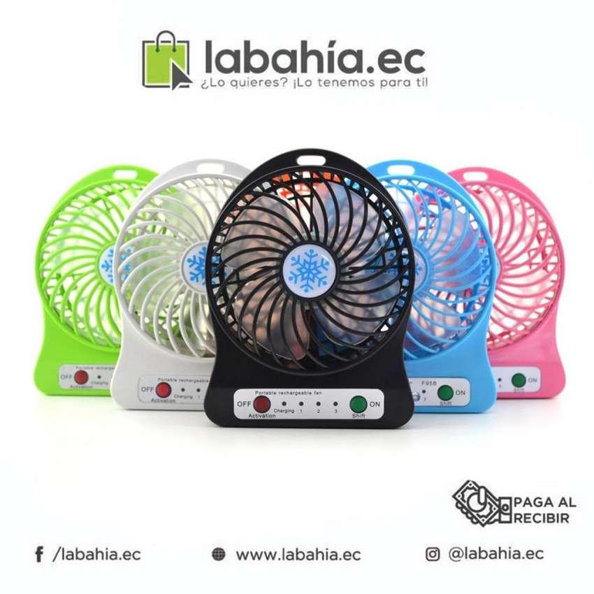 Mini Ventilador con baterias recargable 0