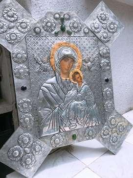 Cuadros Íconos Bizantinos, Virgen de Vladimir y Cristo Pantocrato