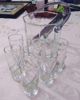 Hielera con 6 Vasos Tequila