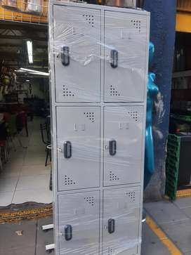 Locker metalico de 6 puestos
