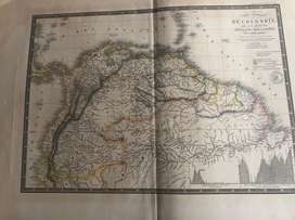 Mapa antiguo con sello