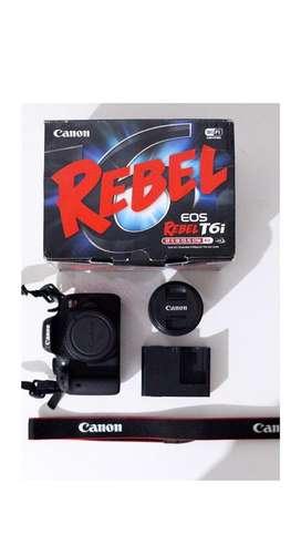 Vendo canon Eos rebel T6i