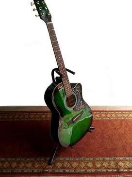 guitarra verde electroacustico