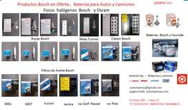 Focos bosch focos osram bujias 1 electrodo 2,3 y 4 filtros aceite relay plumillas  filtro aceiye baterias