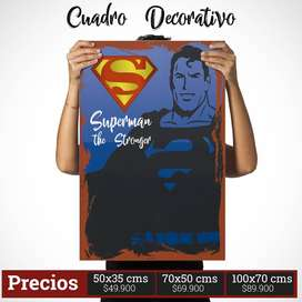 Cuadro Decorativo de SuperMan Comic Style