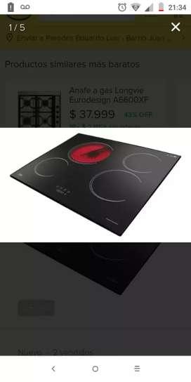 Cocina (anafe ) electrónica VITROCERAMICA  En caja nuevo sin uso $30 mil.