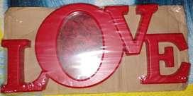 Portaretratos Love color Rojo Nuevo