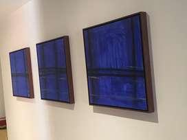 Cuadro decorativo abstracto oleo