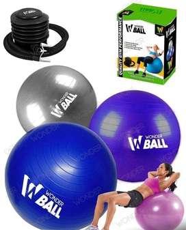 Balón Gimnasio Yoga Con Inflador 75 Cm Diámetros-OFERTA-
