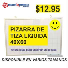 PIZARRA DE TIZA LIQUIDA 40X60
