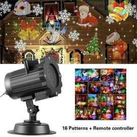 Proyector De Luces De Navidad Led 16 Diapositivas