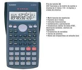 Calculadora científica CASIO Fx 82MS de 240 funciones NUEVA