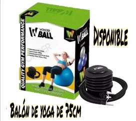 Balón de yoga WONDER SPORT con inflador