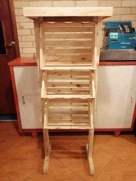 Exhibidor frutero en madera