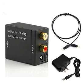 Convertidor Adaptador Digital Óptico A Rca Análogo Audio