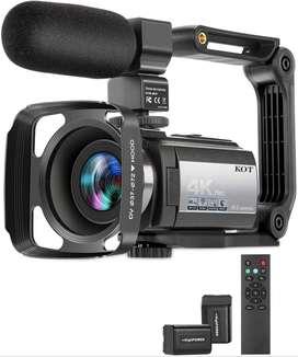 Videocámara Kot 4k 60fps Ultra Hd Wifi 16x Zoom Night Vision Nueva