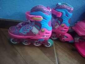 Hermosos patines de niña