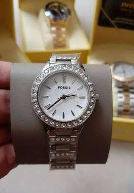 Reloj Fossil de mujer nuevo con cristales. Relojes originales Guess Invicta MK Tommy