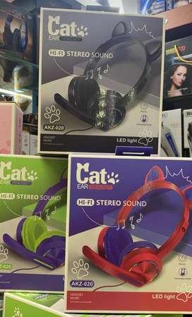 Audifonos gato con microfono pc
