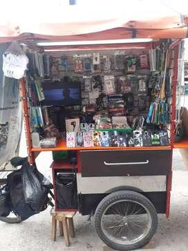 Triciclo Comercial Accesorios Para Celular y Juegos