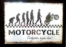 Evolucion Moteros * Placa Metalica.