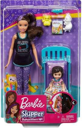 Muñeca Barbie Skipper Babysitters niñera Cuna y accesorios Guarderia