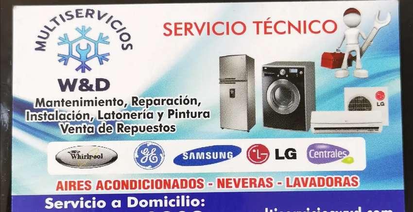 Lavadora, neveras y aires acondicionado