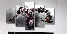 Cuadro Moderno KRATOS God of War