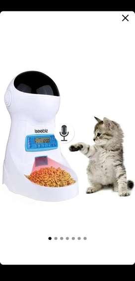 Dispensador de alimento automático perros y gatos